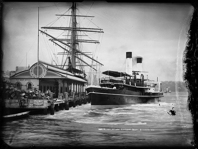 Manly Wharf, Circular Quay, Sydney by Powerhouse Museum Collection, via Flickr