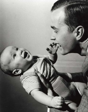 41st and 43rd Presidents of the United States, George H. W. Bush (r) and, son, George W. Bush