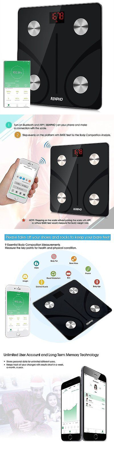 Scales: Renpho Bluetooth Body Fat Scale - Fda Approved - Smart Body Composition Analyzer -> BUY IT NOW ONLY: $34.82 on eBay!