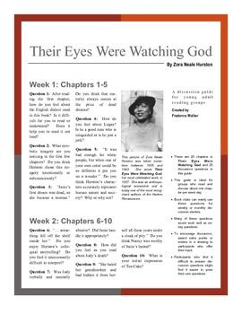 their eyes were watching god research Their eyes were watching god was adapted for a 2005 film of the same title by oprah winfrey's harpo productions, with a teleplay by suzan-lori parks the film starred halle berry as janie starks on april 9, 2008, pbs broadcast a 90-minute documentary, zora neale hurston: jump at the sun, written and produced by filmmaker kristy andersen.