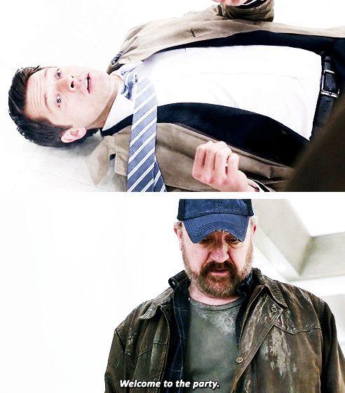 [gifset] 10x17 Inside Man #SPN #Bobby #Castiel