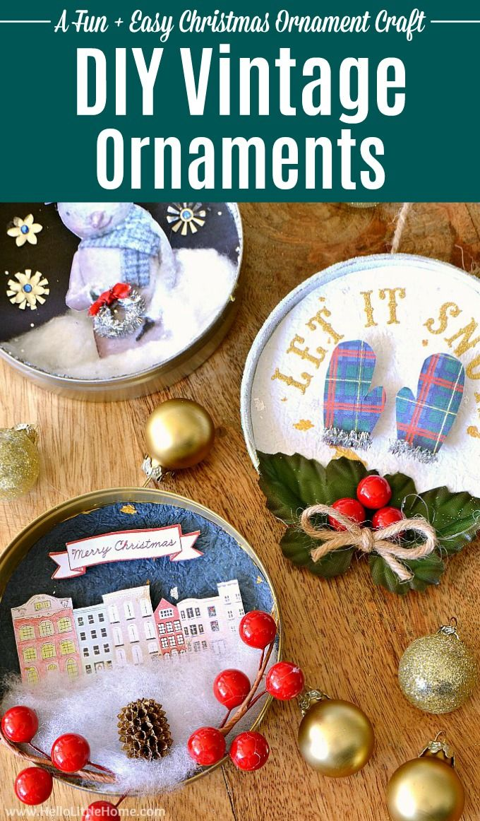 Diy Vintage Christmas Ornaments Learn How To Make Homemade Christmas Ornamen Vintage Christmas Ornaments Christmas Ornaments Homemade Easy Christmas Ornaments
