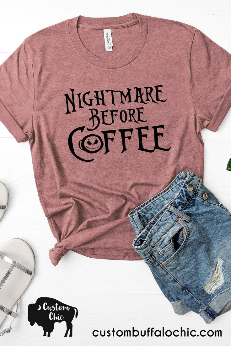 Nightmare Before Coffee T-Shirt  inspired by Nightmare Before Christmas.