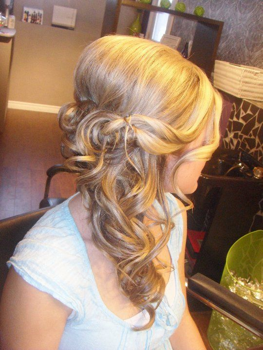wedding hair that is looking like my favorite :) with a waterfall braid!