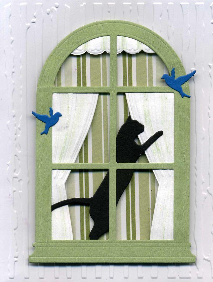 Black cat card by Annie B.                                                                                                                                                                                 More