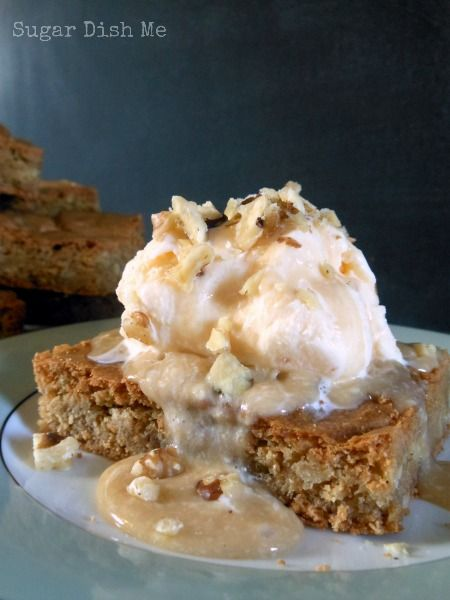 Maple Walnut Blondie Recipe — Dishmaps