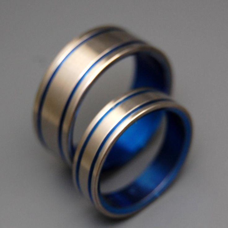 Minter + Richter | Titanium Rings - Blue Wedding Rings | Titanium Rings | Minter + Richter