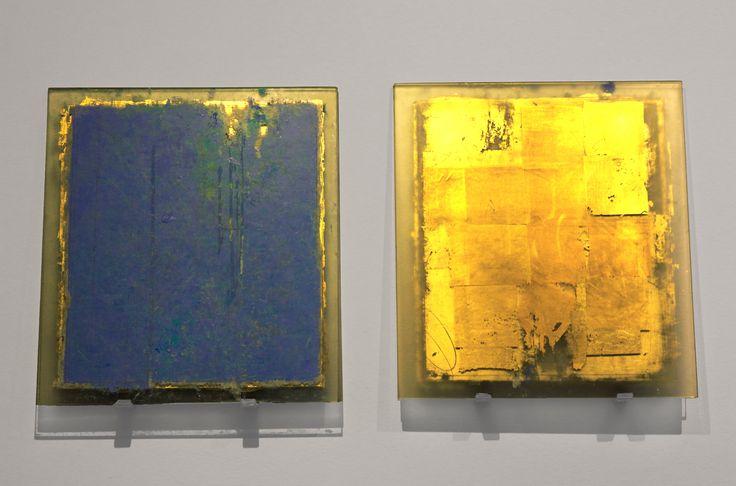 Antonello Viola, (Roma, 1966), Isola di Marettimo 1, 2014, Olio e foglia d'oro / Goldblatt und Öl,42 x 38 cm / 4 pz. - 4Teile