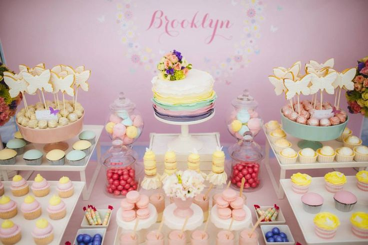 pastel party ideas http://littlepartylove.com.au/pastel-butterfly-first-birthday/