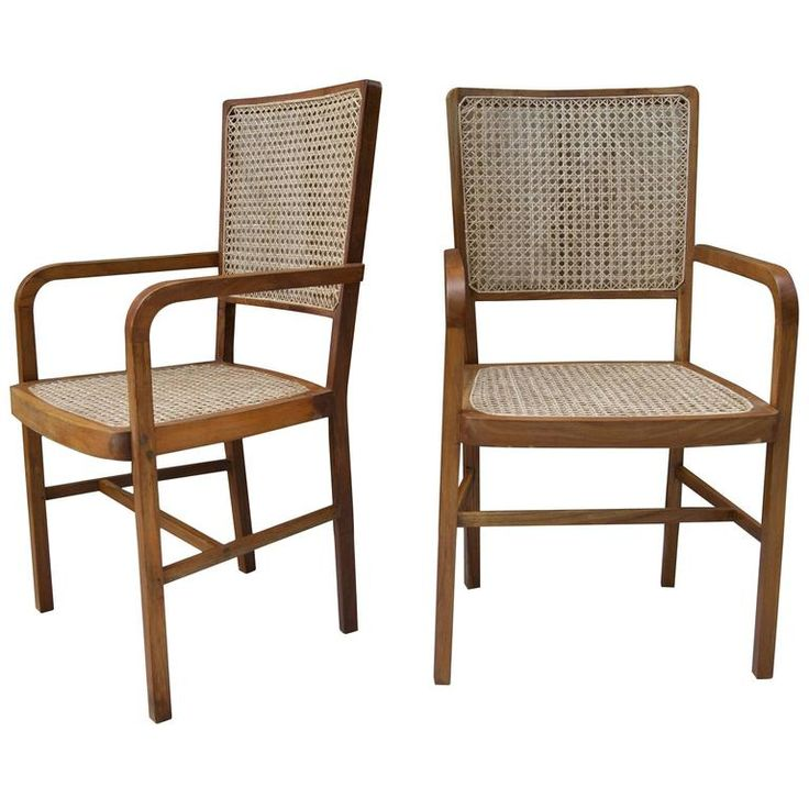 1 of 10 Unique Teak and Cane South Asian Dining Chairs 1