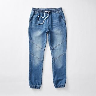 French Terry Denim Jogger Pants | Target Australia