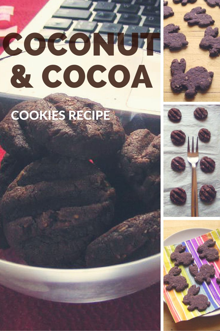 I'm so in love with these coconut & cocoa cookies. It is kind of traditional czech recipe and I have been in love with these cookies ever since I was small kid.