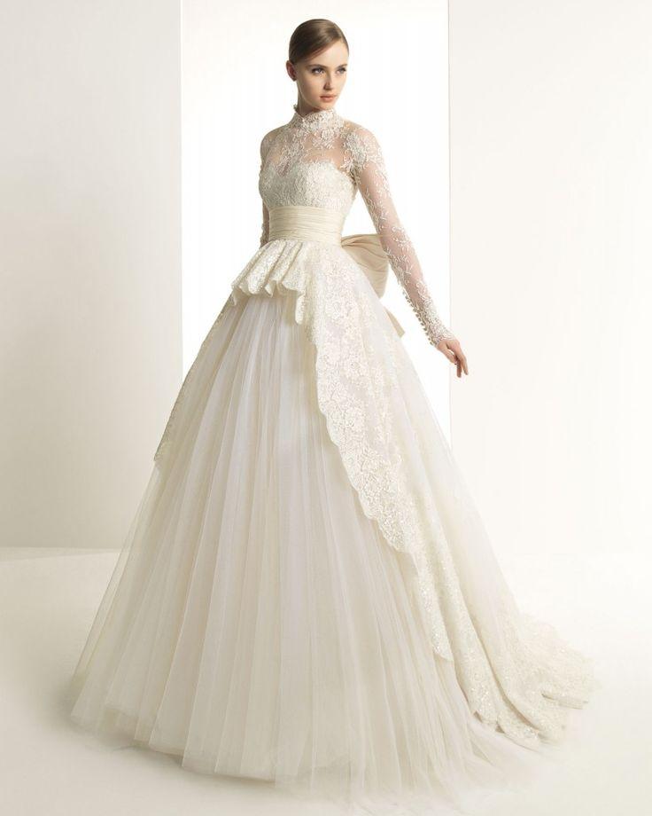 """""""Katrina"""" Vestidos de novia de Rosa Clará 2014 y la increíble línea de Zuhair Murad #rosaclara"""
