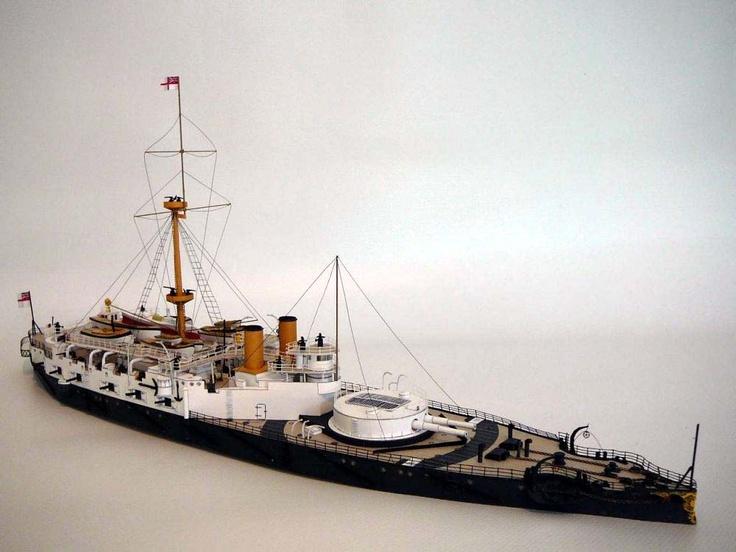 1/250 scale model of the Victorian British vessel HMS Victoria