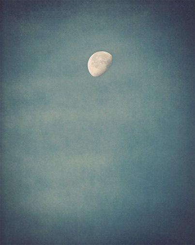 Maan foto  hemel nacht zomer fase blauw donker door FirstLightPhoto