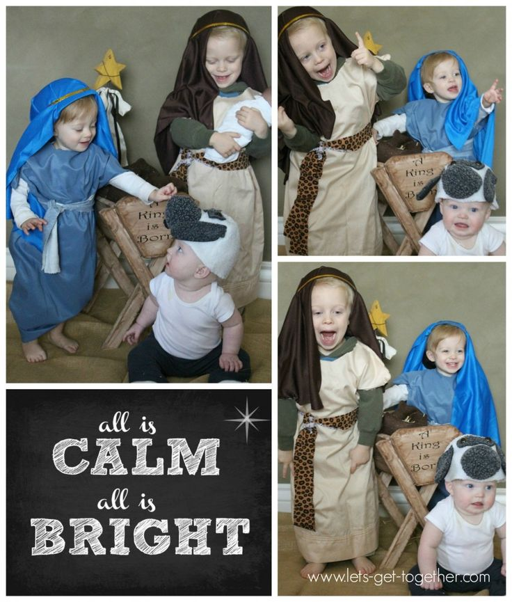How To Make (no sewing!) Cheap and Easy Nativity Costumes in 3 Minutes