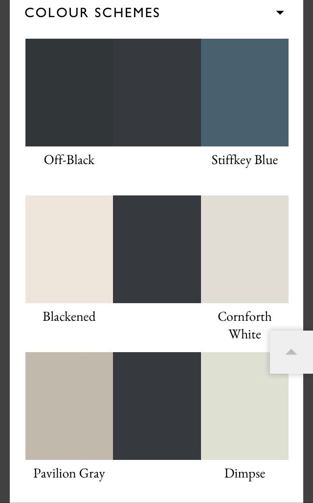 "Farrow and ball color schemes for ""railings"""
