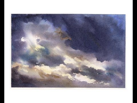 Painting a sky in watercolour - YouTube