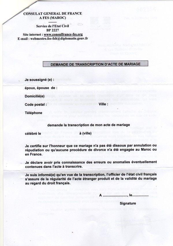 Consulat De France A Fes Mariage