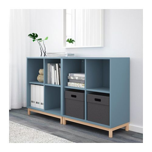 Eket Storage Combination With Legs Light Blue Ikea My Office