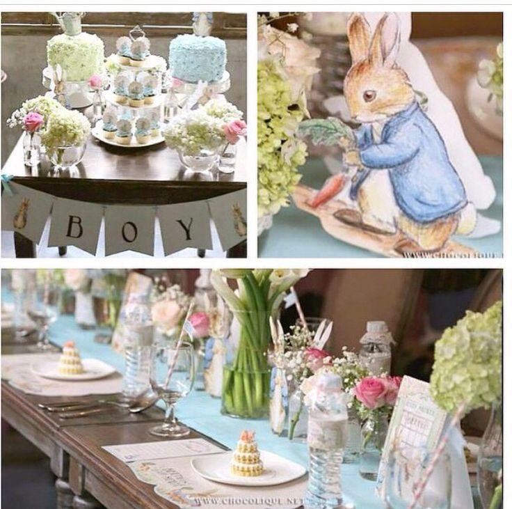 Peter Rabbit baby shower theme