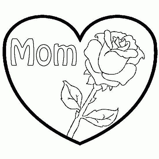 i heart mom coloring pages - photo#22