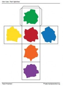 Paint Color Cube for Preschool | PreschoolSpot: Education | Teaching | Pre-K | Preschool | Early Childhood