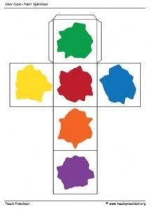 Paint Color Cube for Preschool   PreschoolSpot: Education   Teaching   Pre-K   Preschool   Early Childhood