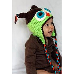@Overstock - This handmade two-tone owl baby hat features dual shades of brown and green accented with long tassels. This cozy owl cap creates a cute but striking appearance.http://www.overstock.com/Main-Street-Revolution/Knitnut-by-JL-Childs-Cotton-Crocheted-Owl-Hat/6466715/product.html?CID=214117 $17.99