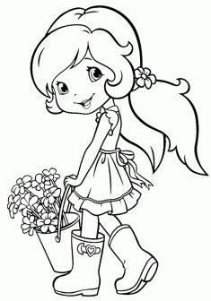 Kız Boyama Sayfası Girls Coloring Pages Chicas Para Colorear