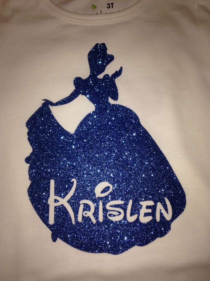Disney Princess - Use CAD-CUT Glitter Flake and a heat press to create one for your little princess.