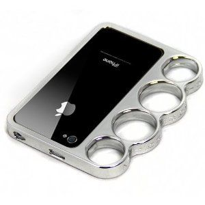 Amazon.com: Knuckle Bumper Case for iPhone 4S / 4 - Silver: Cell Phones & Accessories