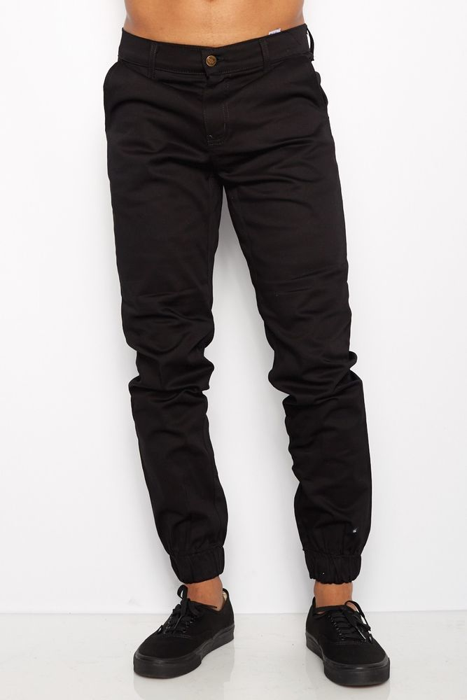 khaki black pants - Pi Pants