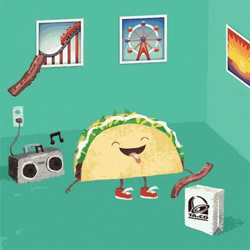Taco Bacon GIF - Taco Bacon Rain GIFs
