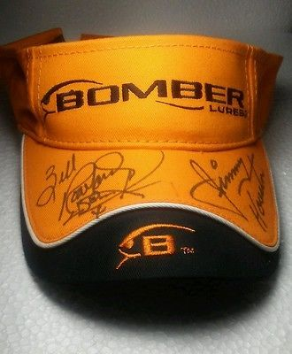 Bomber Lures Hat Pro Anglers Jimmy Houston Zell Rowland Autograph