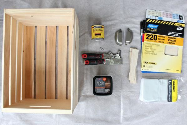 Learn how to customize a wooden storage crate to give it a more finished look for your living room storage.