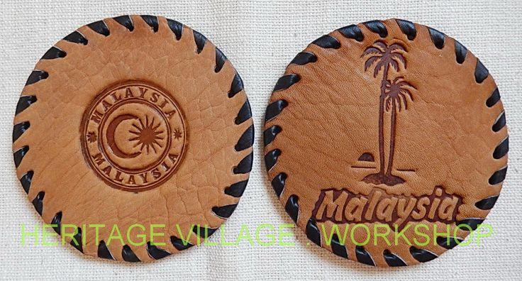 Handmade leather coaster for Malaysia . Кожаные сувенирные подстаканники ручной работы для Малайзии. #coaster , #leathercraft , #malaysia , #малайзия , #сувениры , #kuala_lumpur , #selamat_datang , #leather_coaster