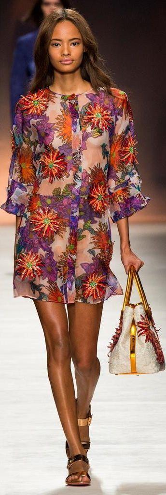 Malaika Firth for Blumarine S/S 2015