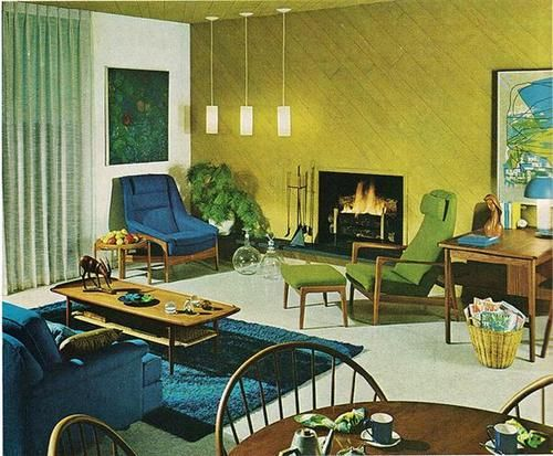 118 best Decor in the 1960s images on Pinterest Vintage