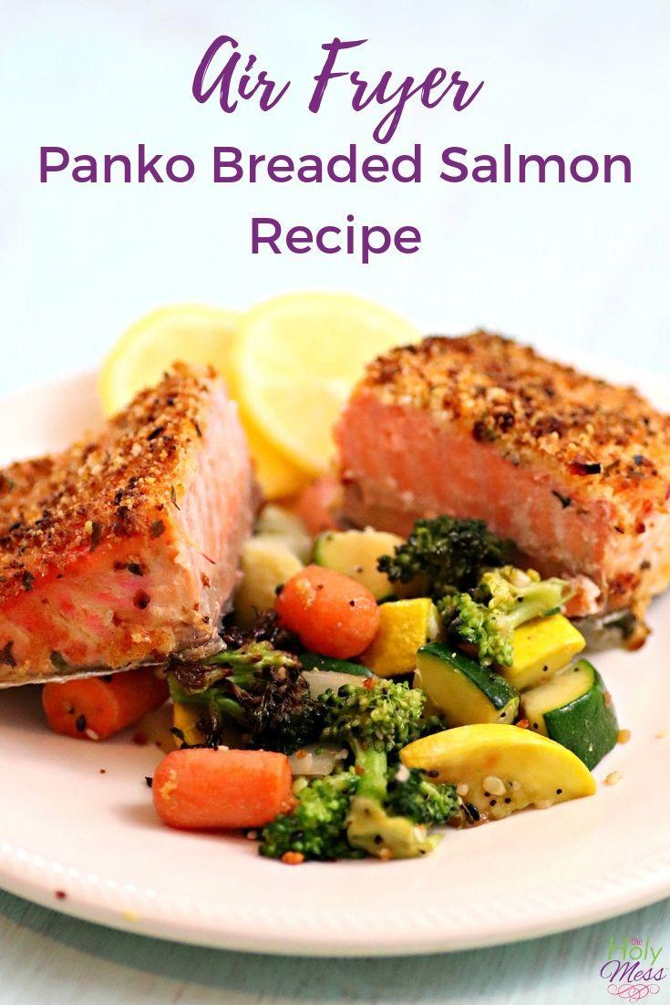 Air Fryer Panko Breaded Salmon