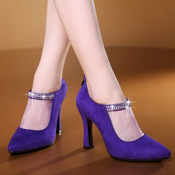 Pumps - Rosy - $89.99 @shoesofexception #trendy #rhinestone #fashion #women #pumps