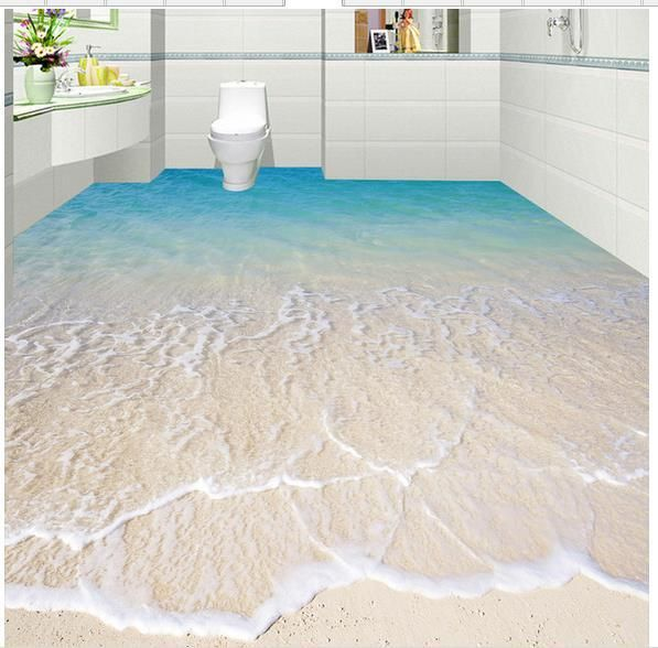 Floor Decor Ideas Lake Tile And More Store Orlando: Custom Photo Floor Wallpaper 3D Stereoscopic 3D Sea Beach
