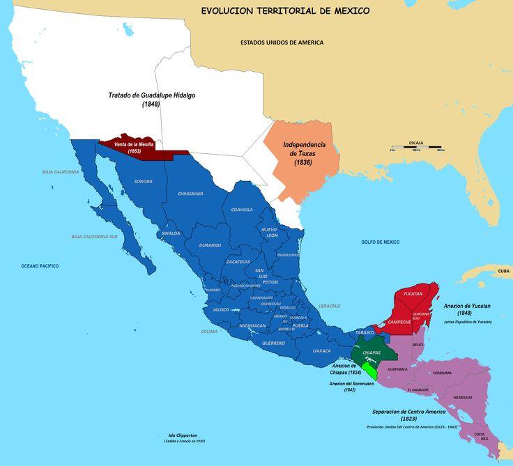 Evolución territorial de México