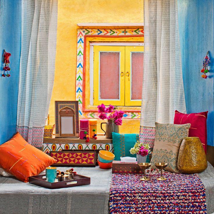 #BeasSummerCollection #home #lifestyle #bedlinen #cushioncovers #tableware #bright #vibrant #colourpop #accessories #vase #Fabindia