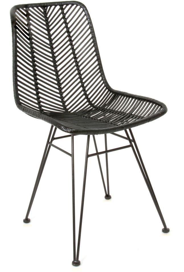 Cosy Rotan stoel zwart - Leitmotiv