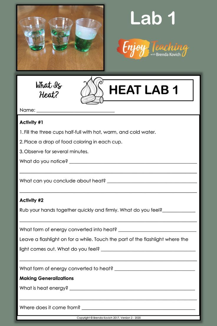 small resolution of Teaching Thermal Energy with Heat Activities for Kids   Thermal energy  activities