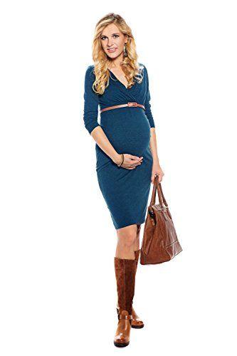 Elegantes Langarm Umstandskleid / Stillkleid, Größe 42 (XL), Farbe Petrol My Tummy http://www.amazon.de/dp/B00Q4VWXFO/ref=cm_sw_r_pi_dp_uCWTub1EYYHGD