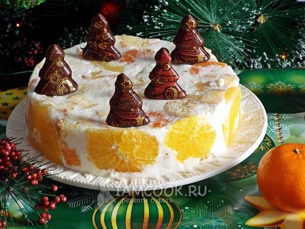 Торт новогодний с фруктами — рецепт с фото | Рецепт | Торт ...