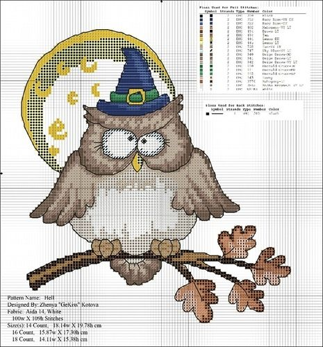 Halloween Owl Cross Stitch