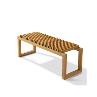 Cutter Bench - Teak $1,260.00, Black $1,390.00. Design Denmark, Auckland.